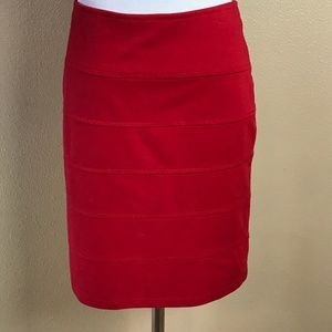 Forever 21 Red Pencil Skirt Mini Size 1X